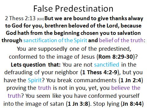False predestination