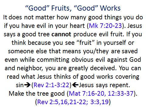 Good fruits Good works