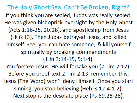 Holy Ghost sealed