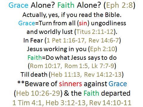 grace alone faith alone