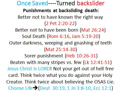 once saved, backsliding death