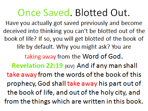 once saved, blotted out