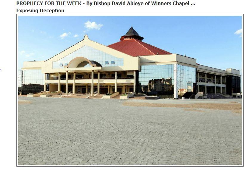 David Abioye of Winners Chapel