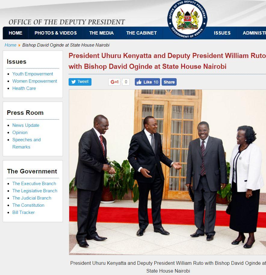 david ogined president kenya