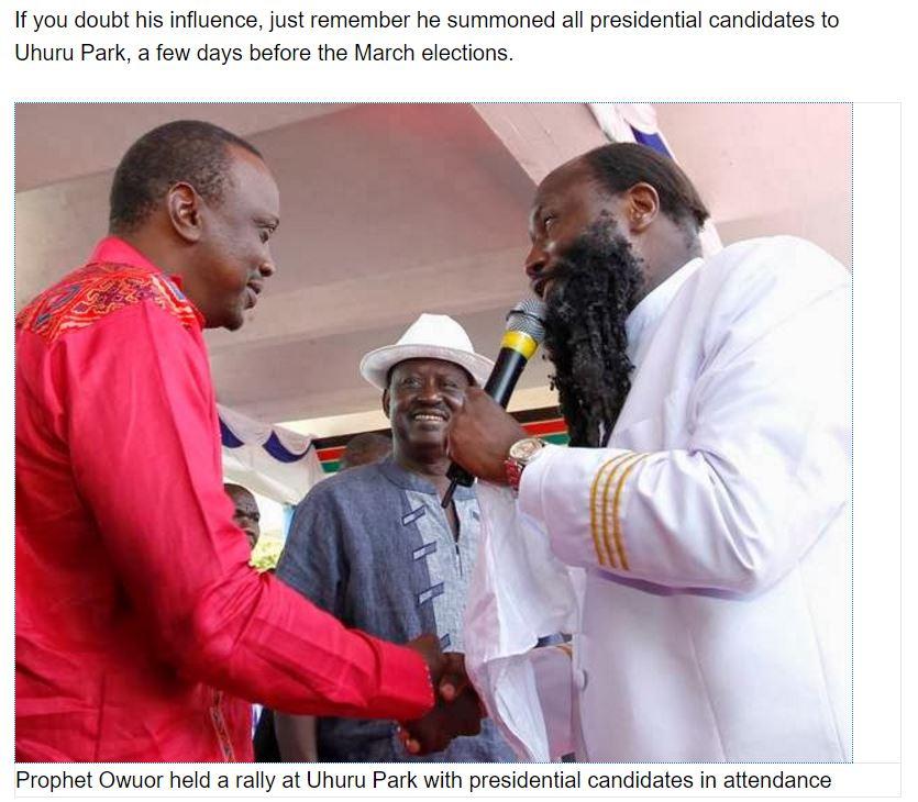 owuor presidnets crap hellbound