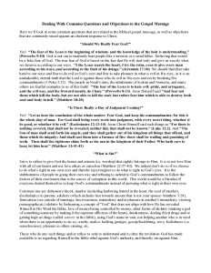 thumbnail of Dealing With Common Questions and Objections to the Gospel Message