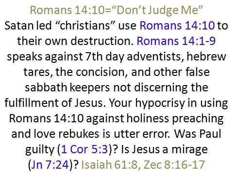 dont judge me sda sabbath zionism jews